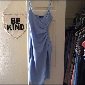 Beautiful powder blue short evening dress